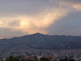 Sunset over Athens